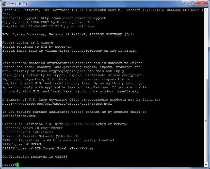 Cisco 1 virtual private network vpn module